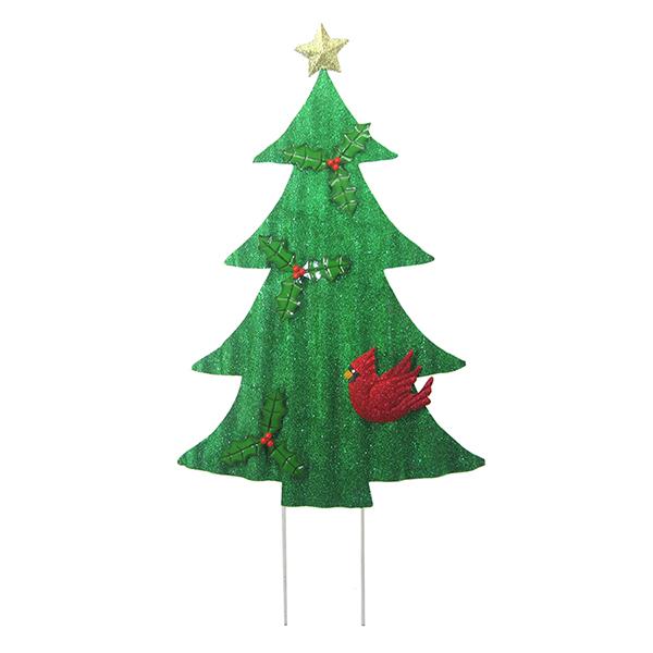 TIN CHRISTMAS TREE STAKE